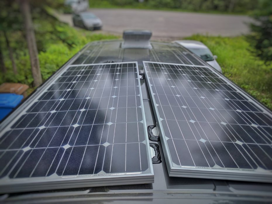 how to install solar panels on a camper van conversion with