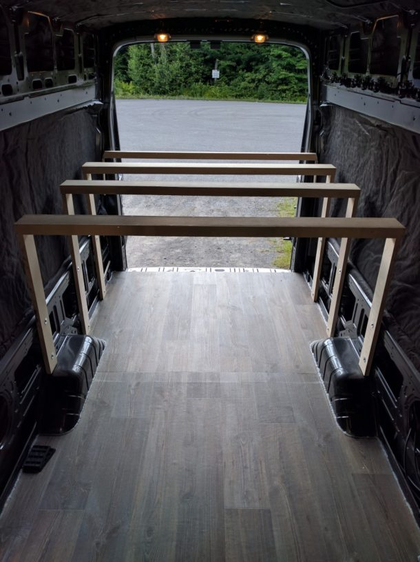 Platform Bed Installation In A Camper Van Conversion