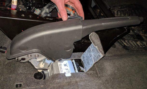 Ford Transit Driver Side Swivel Installation (10)