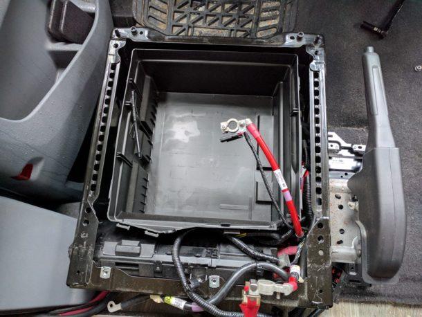 Ford Transit Driver Side Swivel Installation (26)