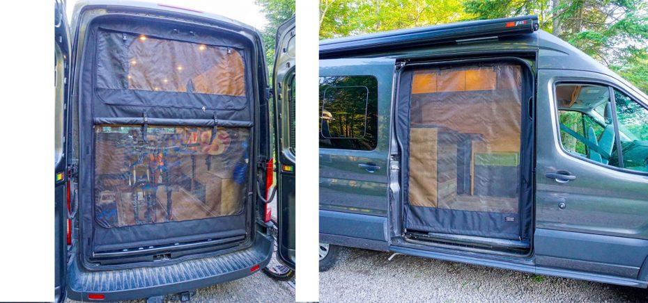 Mosquito Screens Van Conversion DIY Heading