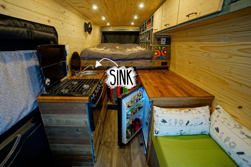 How to find water vanlife, sink
