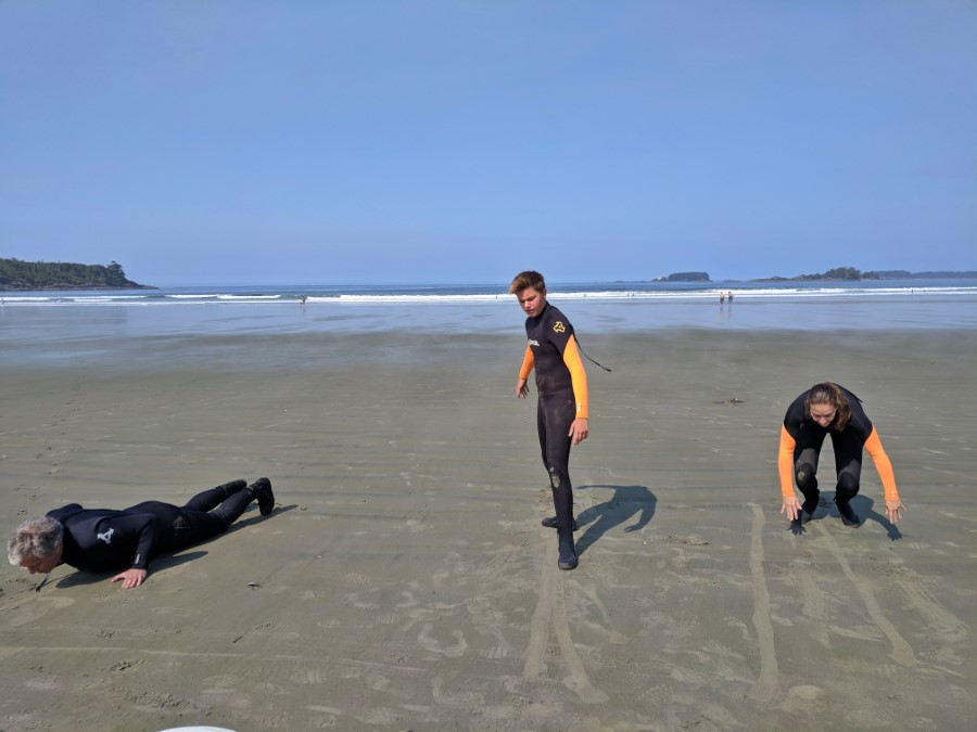 Surfing Action Tofino