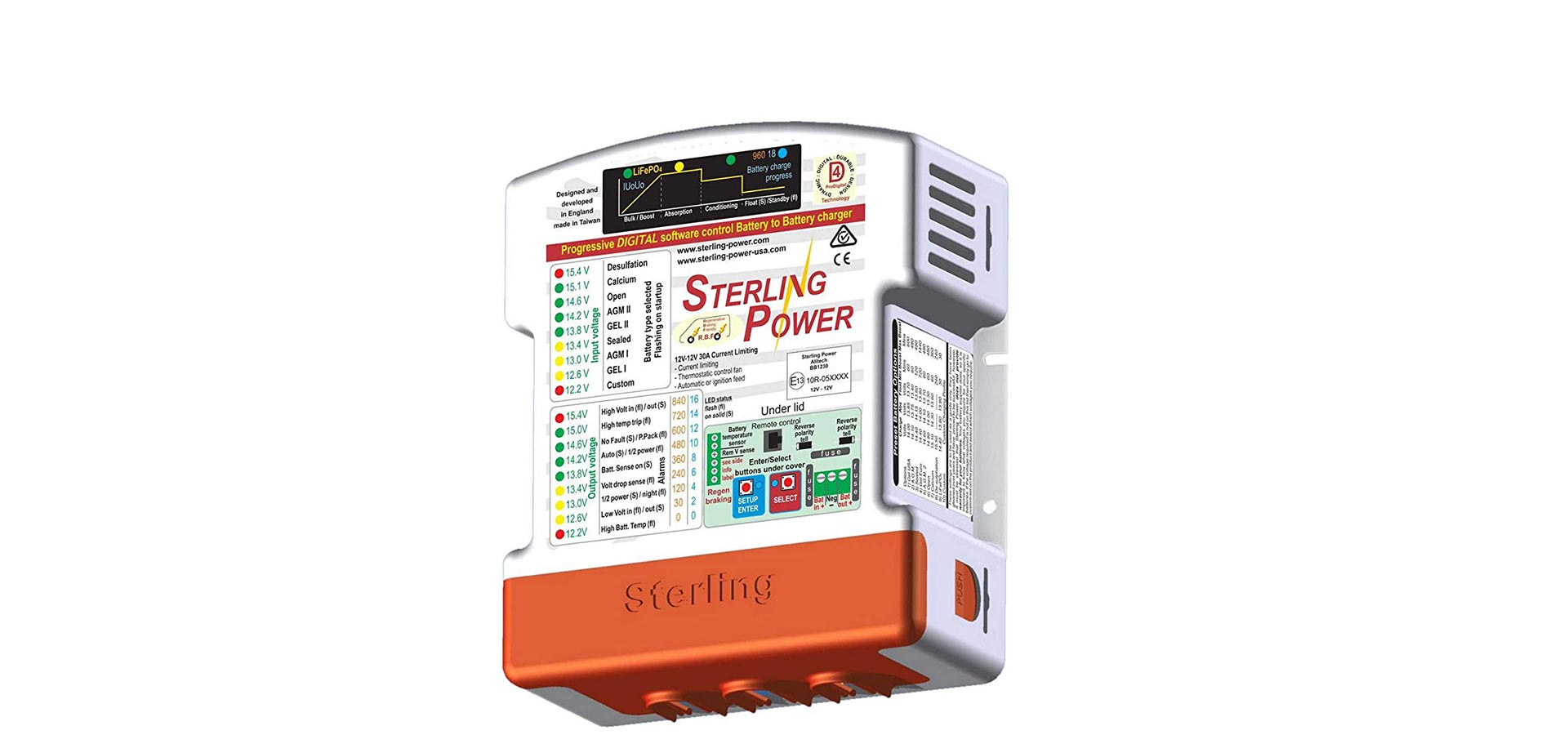 Sterling Power BB1260 Battery to Battery (B2B) Charger ... on sterling fuse box diagram, sterling truck air sensor diagram, sterling parts catalog, sterling sc8000 wiring, sterling truck parts diagram, sterling electrical diagrams, sterling truck wiring,