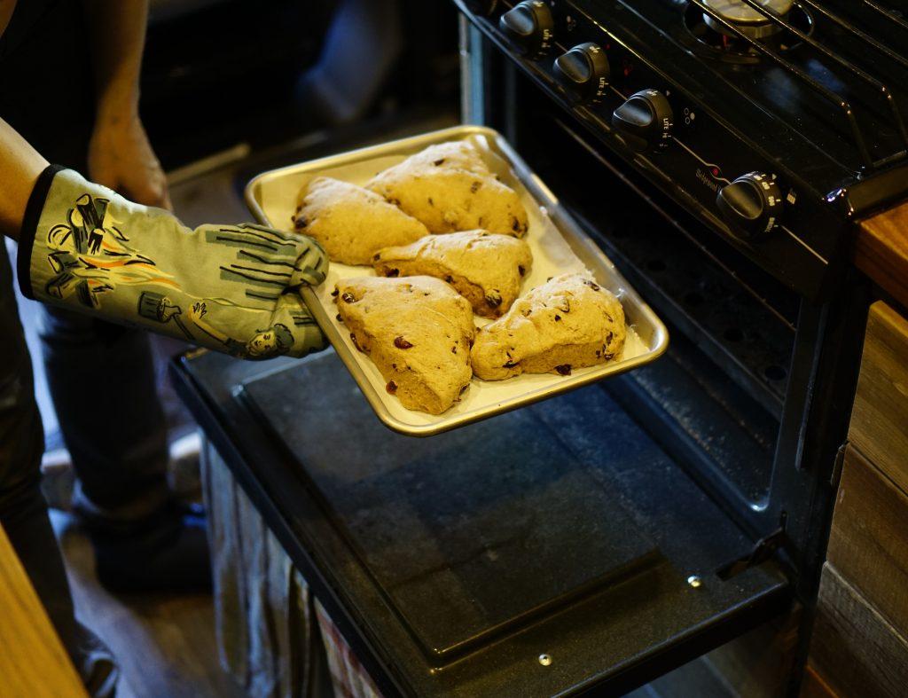 Vanlife Cooking Scones Oven
