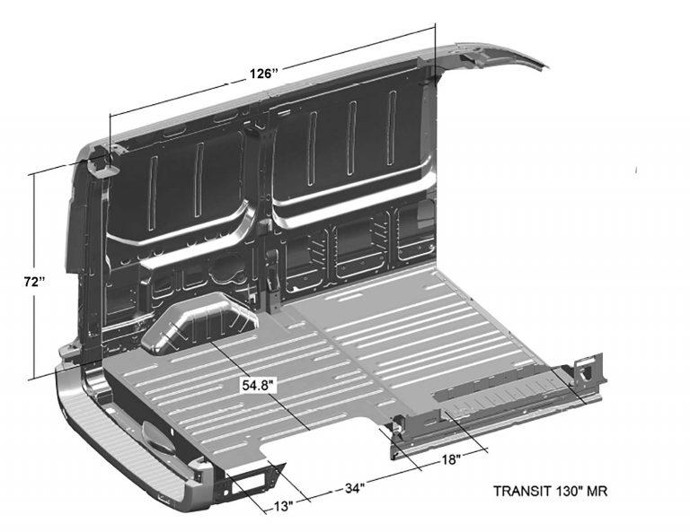 Ford-Transit-Interior-Cargo-Dimensions-(Regular-Length-130WB,-Medium-Roof)