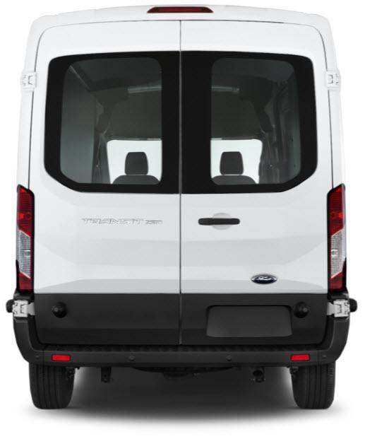 Ford Transit Van Medium Rear View