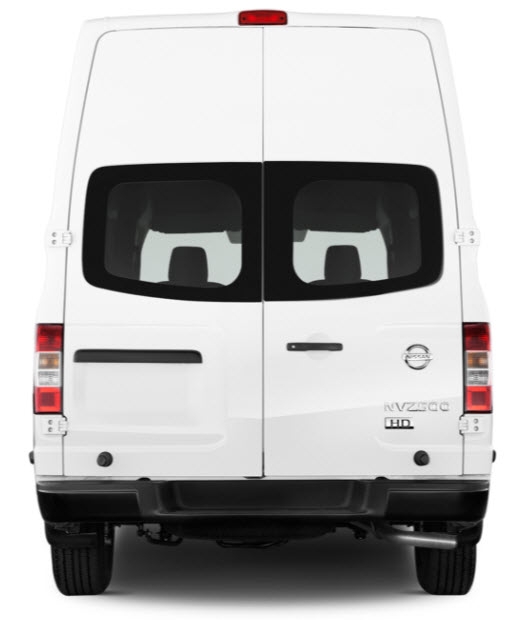 Nissan NV Cargo Van Rear View