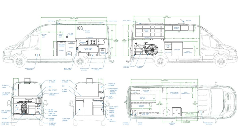 Camper Van Floor Plan Interior Layout Faroutride