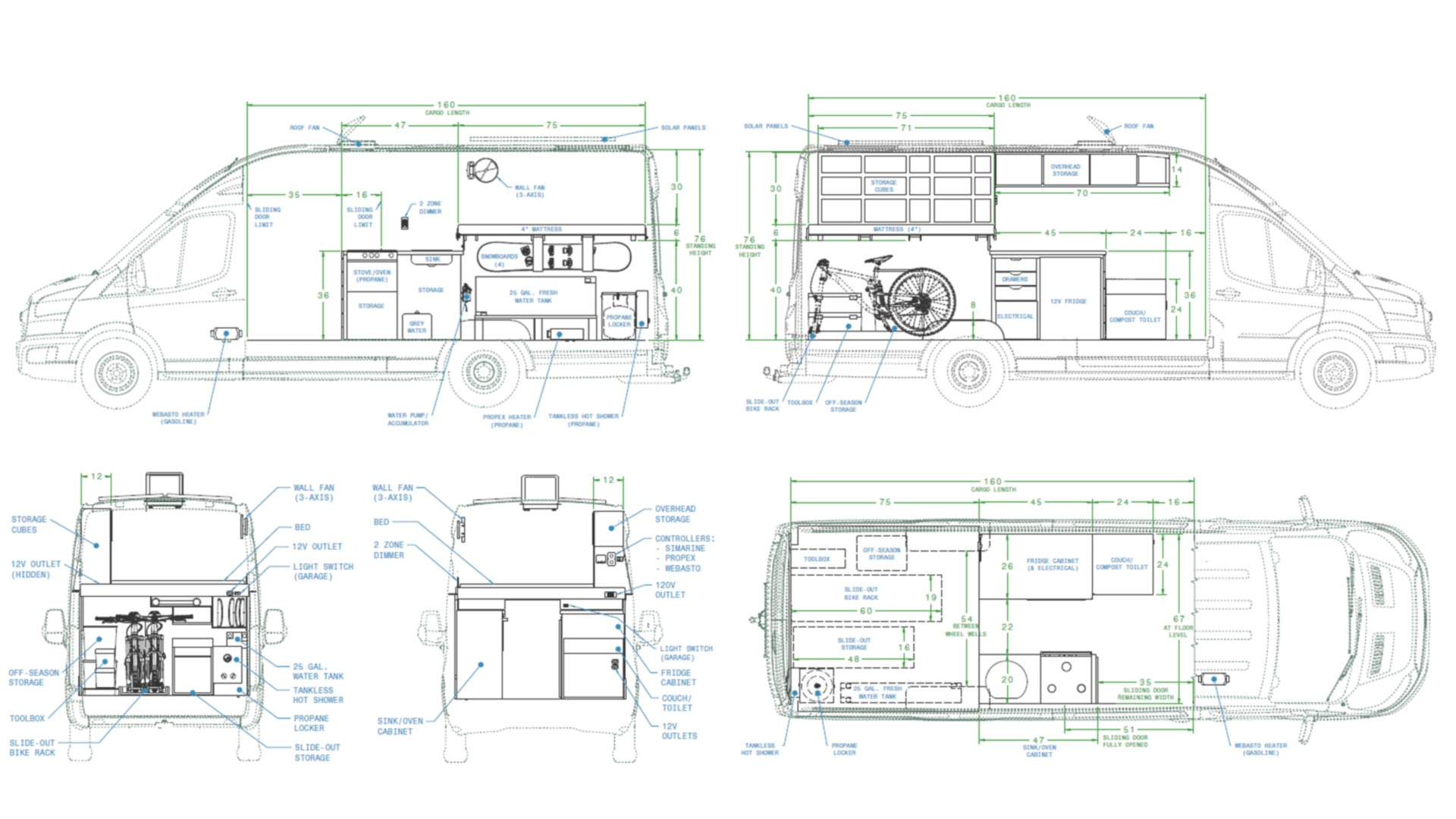 Camper Van Floor Plan & Interior Layout