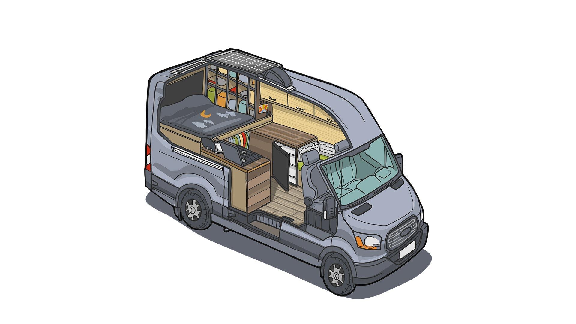 ford transit camper van diy conversion faroutride ford transit camper van diy conversion